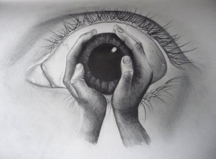 素描眼睛流泪画法步骤